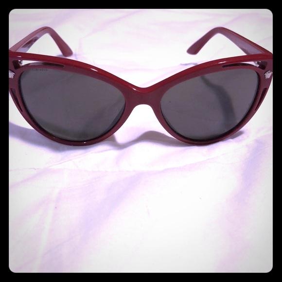 ff1ab357f60c 🌸VERSACE Red Frame Sunglasses
